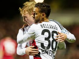 Starkes Offensiv-Duo: Die Leverkusener Julian Brandt (li.) und Karim Bellarabi.