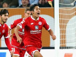 In Augsburg nicht zu halten: Yoshinori Muto.