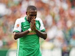 """Hat sich längst das Prädikat """"unersetzlich"""" verdient: Bremens Angreifer Anthony Ujah droht auszufallen."""
