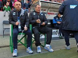 Hoffenheimer Gespann: Cheftrainer Huub Stevens und sein Assistent Alfred Schreuder.