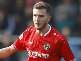 Im Trikot von Hannover II am Ball: Abwehrspieler Andre Hoffmann.