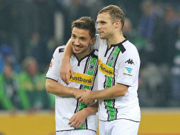 Die Gladbacher Julian Korb und Tony Jantschke