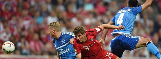 Treffen zum Rückrundenstart am 22. Januar aufeinander: Die Bayern und der Hamburger SV.