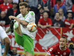Wolfsburgs Stürmer Nicklas Bendtner