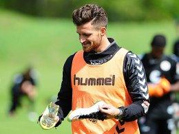 St. Paulis Alushi trainiert bei der Borussia