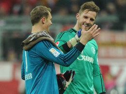 Kennen sich, schätzen sich - und sehen sich am Samstag wieder: S04-Keeper Ralf Fährmann und Bayern-Torwart Manuel Neuer.