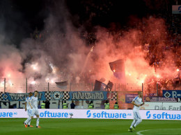 HSV-Fans zündeln in Darmstadt