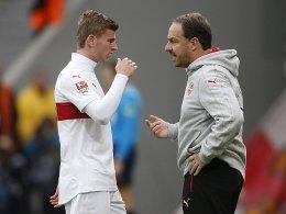Timo Werner und Trainer Alexander Zorniger