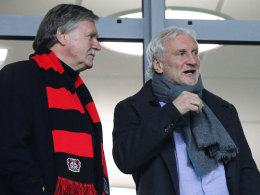 Bayer-Geschäftsführer Michael Schade und -Sportchef Rudi Völler