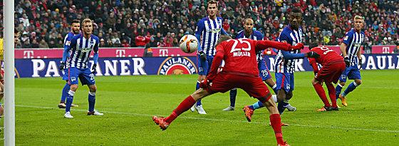 Den Bann gebrochen: Thomas Müller trifft in München zum 1:0.
