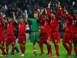 Der FC Bayern freut sich mal wieder über den Gruppensieg