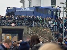 Beim Nordderby wird es, wie hier im März 2014, ein gesteigerten Polizeiaufkommen geben.