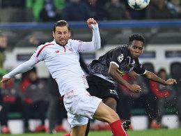Eine der wenigen Aktionen gegen Sevilla: Gladbachs Ibrahima Traoré musste früh runter.