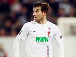 """""""Die Kraft und die Konzentration haben nachgelassen"""": Augsburgs Daniel Baier nach dem 2:3 gegen Bilbao."""