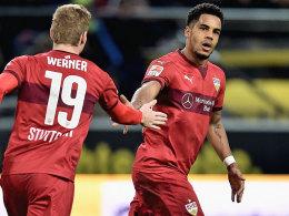 Die Stuttgarter Timo Werner und Daniel Didavi.