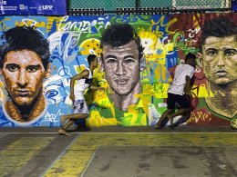 Lionel Messi, Neymar und Cristiano Ronaldo