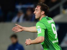 """""""Harte Arbeit wird belohnt"""": Mönchengladbachs Angreifer Josip Drmic hofft auf die Startelf gegen Bayern."""