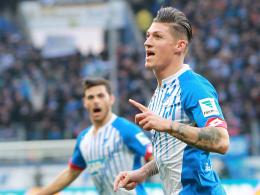 """""""Grundsätzlich war es ein Schritt nach vorne"""": Hoffenheims Steven Zuber."""
