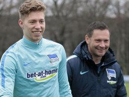 """Vorsichtig optimistisch: Herthas Trainer Pal Dardai sah zuletzt """"ordentliches"""" Training von Mitchell Weiser."""