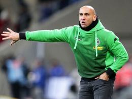 """""""Torgefährlich sein, ohne ins offene Messer zu laufen"""": Gladbachs Trainer Andre Schubert."""
