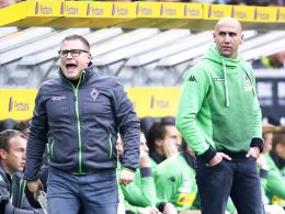 Erfolgsduo: Gladbachs Sportdirektor Max Eberl (li.) und Trainer Andre Schubert.