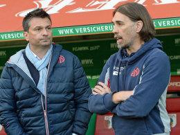 Der Mainzer Manager Christian Heidel und Trainer Martin Schmidt.