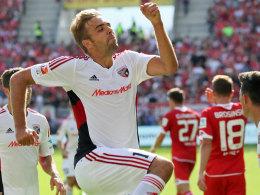 """""""Lange her"""": Ingolstadts Stürmer Lukas Hinterseer traf am ersten Spieltag in Mainz - seitdem wartet er."""