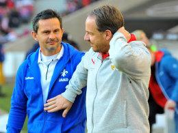 Dirk Schuster und Alexander Zorniger
