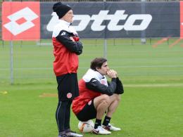 Aktuell fast ohne Chance in Mainz: Niki Zimling (li.) und Henrique Sereno.