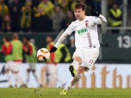 Augsburgs Mittelfeldspieler Daniel Baier