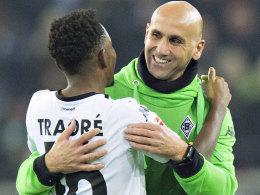 Gladbachs Trainer André Schubert muss gegen Darmstadt wohl ohne Ibrahima Traoré auskommen.