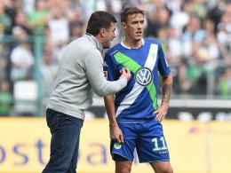 Dieter Hecking mit Max Kruse