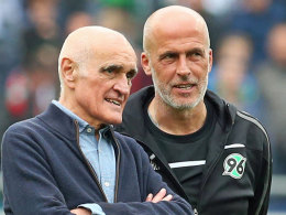 Hannovers Klubboss Martin Kind und Ex-Trainer Michael Frontzeck.
