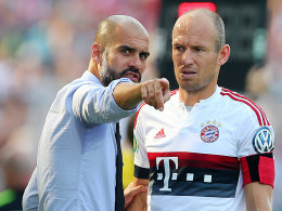 Pep Guardiola und Arjen Robben