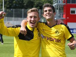 Erfolgreich in der Dortmunder Jugend: Felix Passlack (li.) und Christian Pulisic.