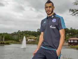 Im Schalker Trikot angekommen: Younes Belhanda im Trainingslager der Königsblauen in Orlando.