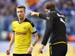 """""""Er macht einen fokussierten und befreiten Eindruck"""", sagt Dortmunds Trainer Thomas Tuchel über Marco Reus."""