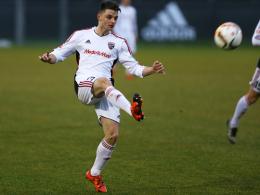 Erstes Tor für den FCI: Ingolstadts Stürmertalent Maurice Multhaup.