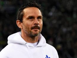 """""""Wir wollten die Automatismen nach vorne einstudieren, das war unmöglich"""": Darmstadts Trainer Dirk Schuster."""