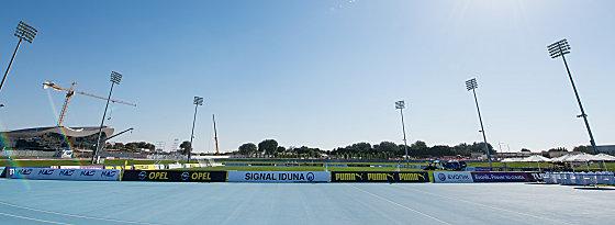 Perfekte Trainingsbedingungen für Borussia Dortmund in Dubai.