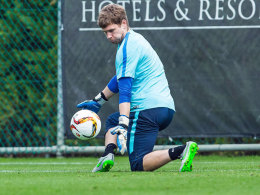 Wieder im Training: Herthas Trainer Thomas Kraft.