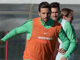 Bremens Hoffnungsträger Claudio Pizarro.