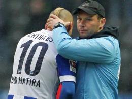 Änis Ben-Hatira und Pal Dardai, Hertha BSC