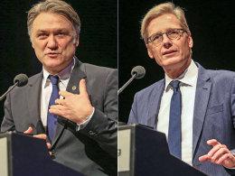 HSV-Vorstandsboss Dietmar Beiersdorfer und Aufsichtsratsvorsitzende Karl Gernandt.