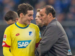 Hoffenheims Sebastian Rudy und TSG-Trainer Huub Stevens.