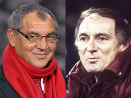 Rekordmänner: Felix Magath (li.) und Branko Zebec waren sowohl für den HSV als auch für den FC Bayern als Trainer tätig.