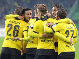 Verdientes 3:1: Dortmund jubelte im Borussen-Duell bei den Gladbachern.