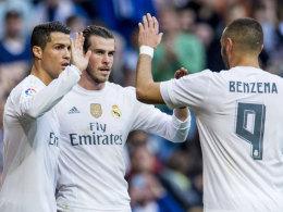 Cristiano Ronaldo, Gareth Bale, Karim Benzema