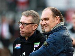 Starkes Duo: FC-Coach Peter Stöger und Geschäftsführer Jörg Schmadtke.