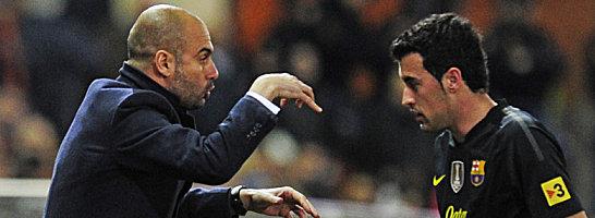 Pep Guardiola und Sergio Busquets